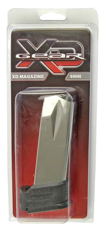 Magazine, 9mm, 16 Round, Stainless, New (Sub-Compact; w/ Black X-Tension)
