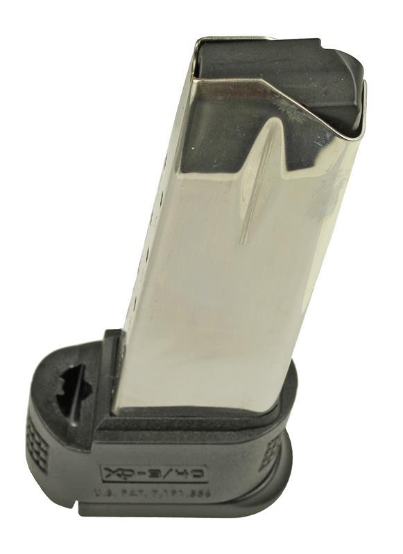 Magazine, .40 S&W, 12 Round, Stainless, New (Sub-Compact; w/ Black X-Tension)