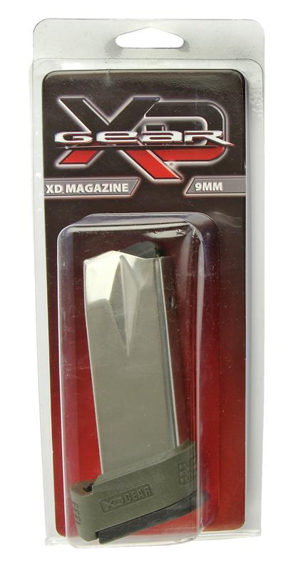 Magazine, 9mm, 16 Round, Stainless, New (Sub-Compact; w/ Green X-Tension)