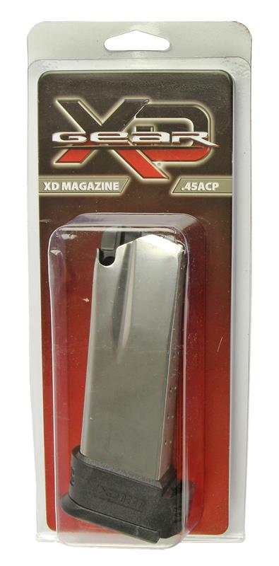 Magazine, .45 ACP, 13 Round, Stainless, New (Compact; w/ Black X-Tension)