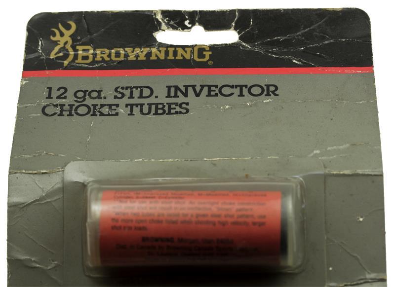 Choke Tube, 12 Ga. Standard Invector, Lead - Cylinder, Steel, Improved Cyl, New