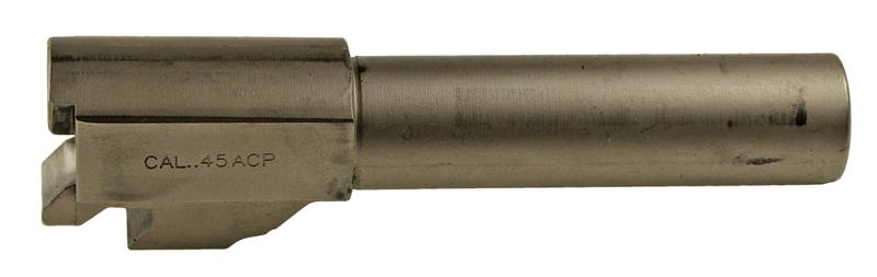 Barrel, .45 ACP, Nickel, Used Factory  (For Slides w/o Loaded Chamber Indicator)