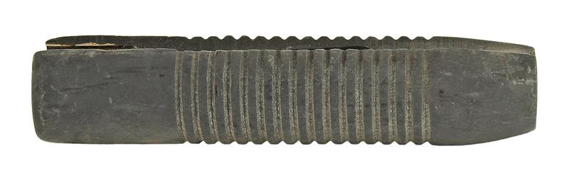 Forend, 20 Ga., Military Ribbed, Black Wood