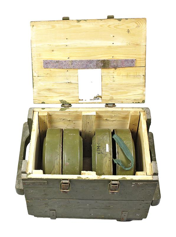 Anti-Tank Mine, TM-62M, Inert, Metal, Case of Four