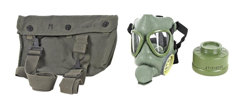 Gas Mask w/ Filter Canister, Yugoslavian M-1, New, Unissued