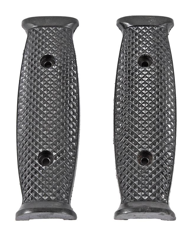 Bayonet Grips, Pair, M7, Black Checkered Plastic, Used Original