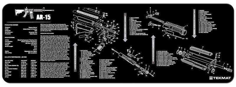 TekMat Rifle Mat, AR15, Black