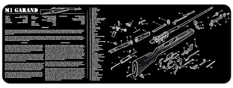 TekMat Rifle Mat, M1 Garand, Black