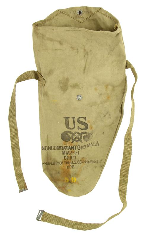 Carry Bag, For M1A2-1-1 Non-Combatant Gas Mask, Size Child