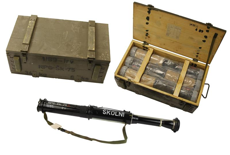 Training Rocket, Czech Army RPG SK75, 68mm, Wooden Crate of Six