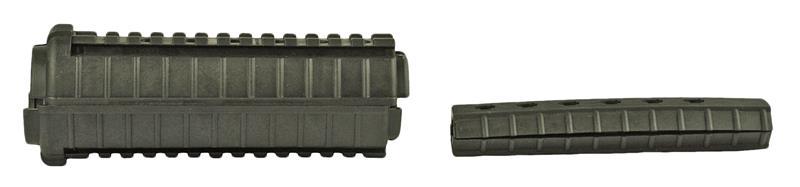 M33 Handguard Set, Carbine Length, Rail on Top&Bottom, Black Plastic, MFT Mfg.