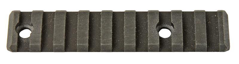 Forearm Rail, 9 Slot, 2 Mounting Holes, Black Anodized Aluminum