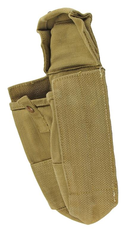 Magazine Pouch w/ Snap Button Closure, Khaki Canvas, No Dates, Good to VG
