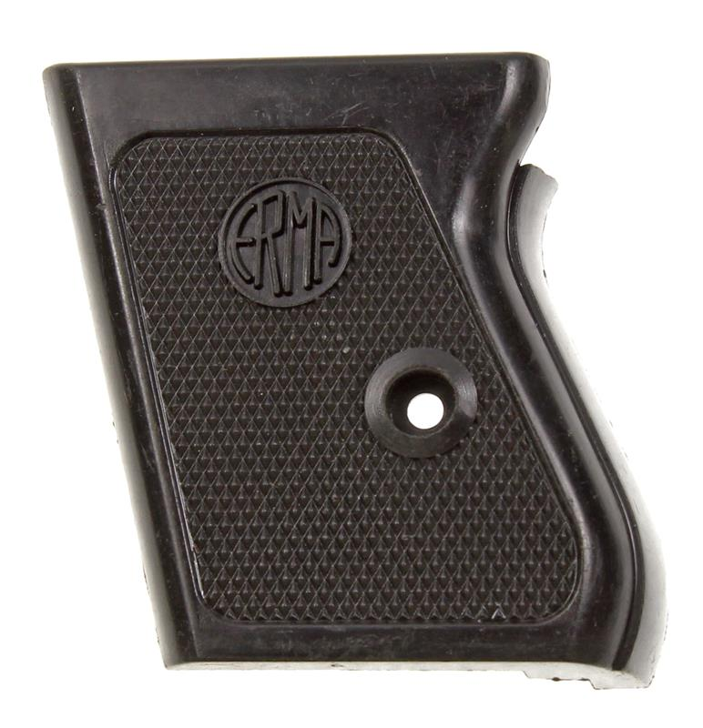 Grip Panel, LH, Black Plastic, New Factory Original (Stamped Erma)