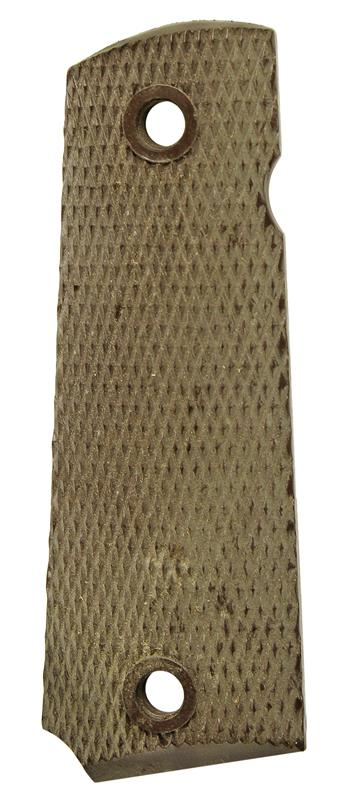 Grip, Right Side, Brown Plastic