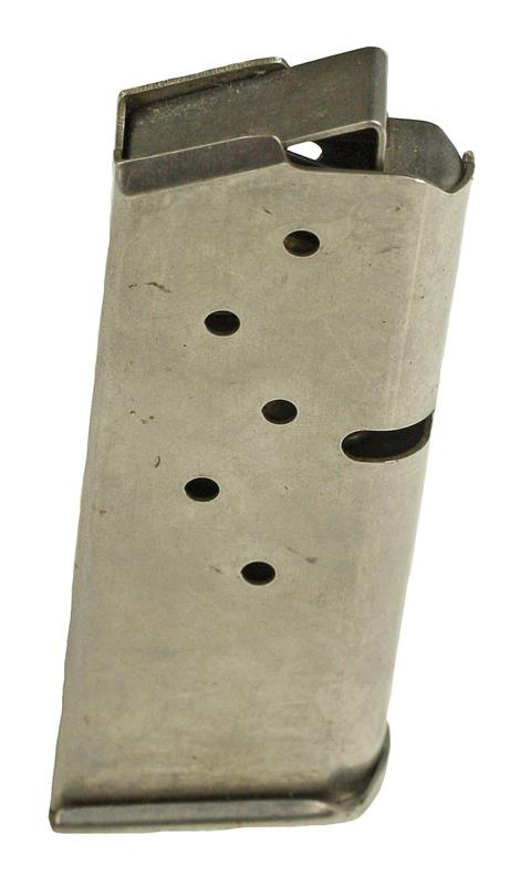 Magazine, 9mm Luger, 6 Round, Stainless, Used (Factory)