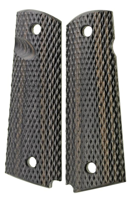 Grip Set, Black & Pewter Laminate, New Factory Original