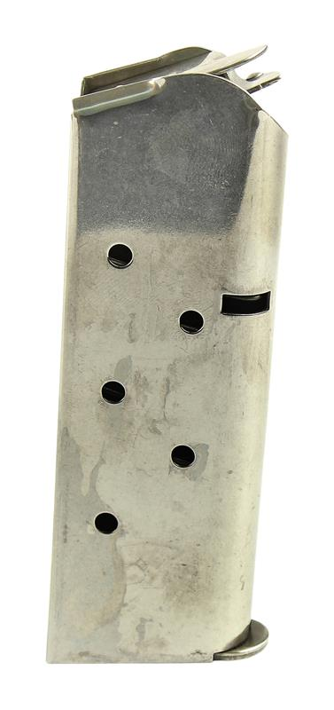 Magazine, .45 Cal., 6 Round, Stainless, New (Compact; Factory)