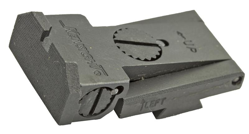 Rear Sight, Adjustable, Beveled Blade (Fits BO-MAR BMCS Sight Cut; Kensight)