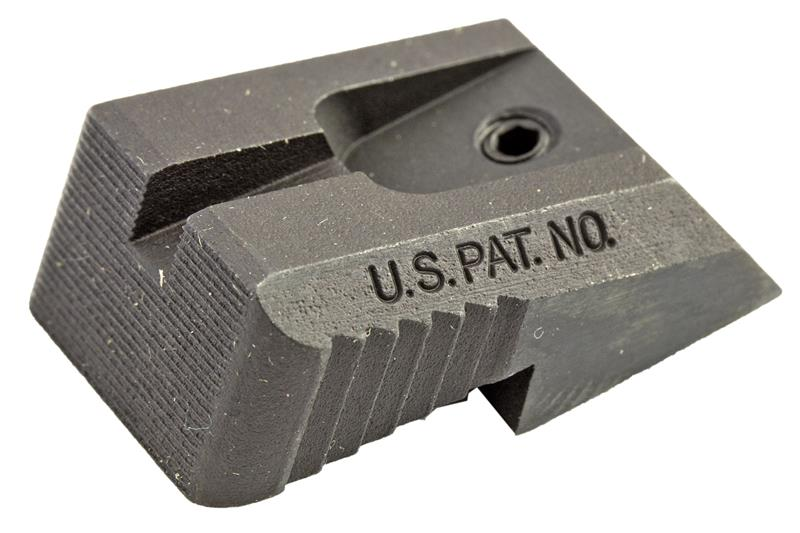 Rear Sight, Fixed, Serrated Blade (Fits Novak LoMount Sight Cut; Kensight)