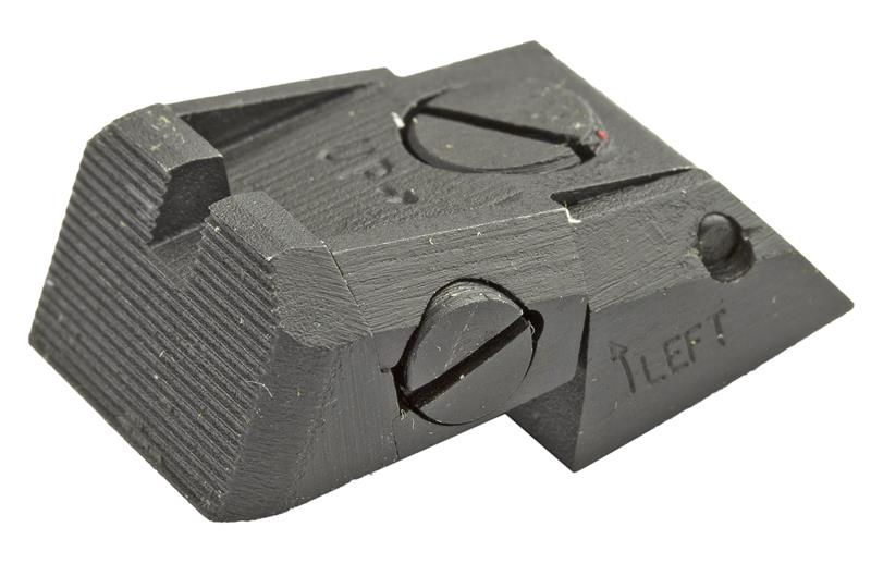 Rear Sight, Adjustable, Serrated Blade (Fits Novak LoMount Sight Cut; Kensight)