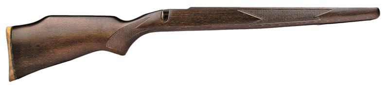 Stock,LA,RH,Drilled for QD Studs,Wlnt Stained Chkrd Hrdwd w/Brown Pad