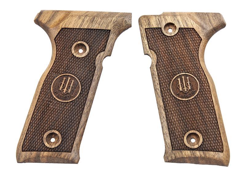 Grips, .45 ACP, Checkered English Walnut w/Logo, New Reproduction