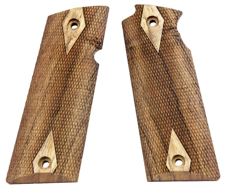 Grips, Cut-Checkered French Walnut, New Reproduction (Diamond Design)