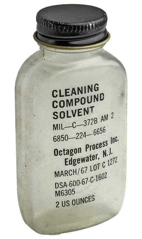 Bottle, Cleaning Compound Solvent, 2 Oz. (Empty Bottle; Solvent Not Included)