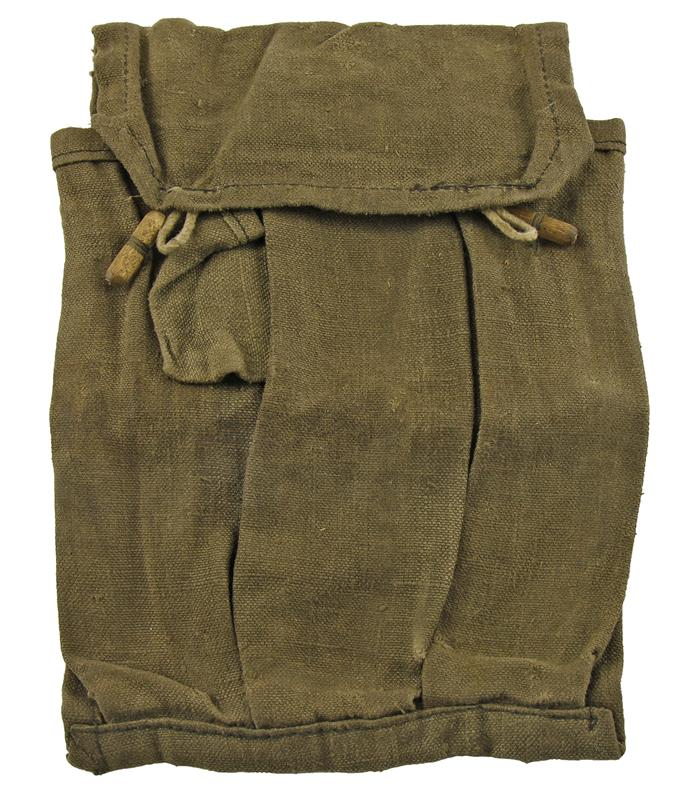 Magazine Pouch, 3 Pocket for 35 Round Magazine, Fair to Good Condition, Canvas