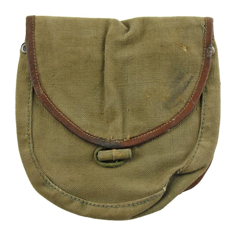 Drum Pouch, Canvas w/ Belt Loops & Loop Closure, Used Good Condition