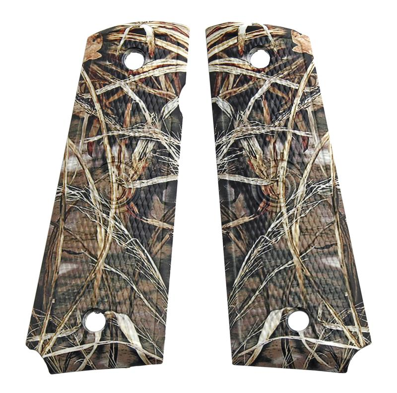 Grips, Large, Polymer, Wetlands Camo (Holes 3-1/8