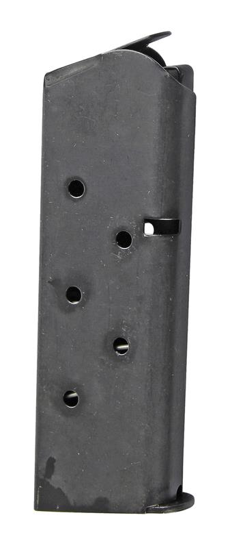 Magazine, .45 ACP, 7 Round, Blued (Full-Size; Flat Floorplate; Checkmate Mfg)