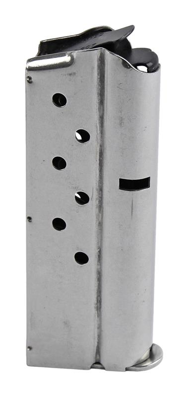 Magazine, 9mm, 7 Round, Stainless, New (Officer; Flat Floorplate; Checkmate Mfg)
