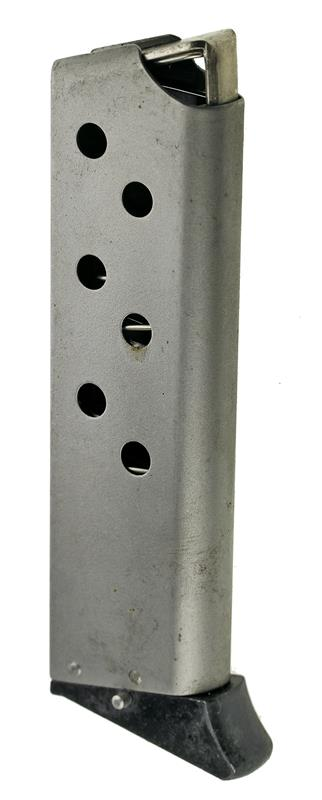 Magazine, .380 Cal., 7 Round, Stainless, New (w/ Plastic Finger Exten; Factory)