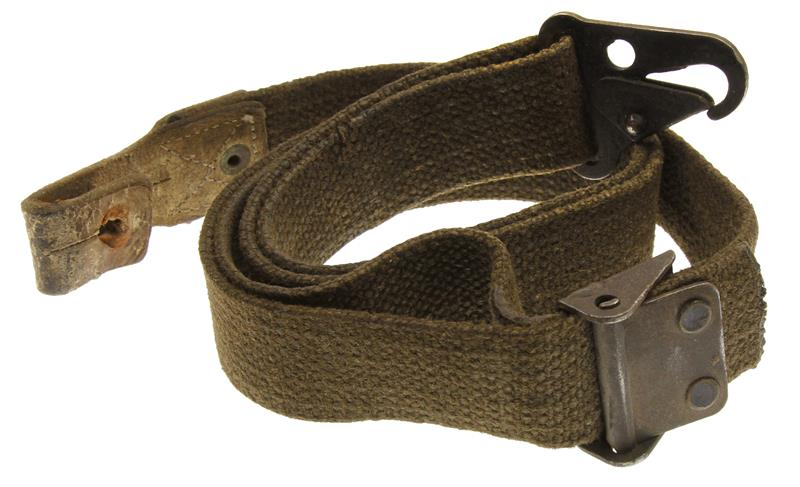 Sling, Used - Fair Condition, Green Canvas w/Hook