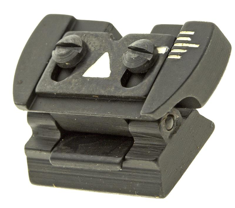 Rear Sight, Folding Leaf, Blued Steel, New Reproduction (Fits 3/8