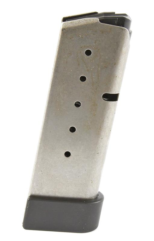 Magazine, .45 ACP, 6 Round, Stainless w/Extended Base, Factory