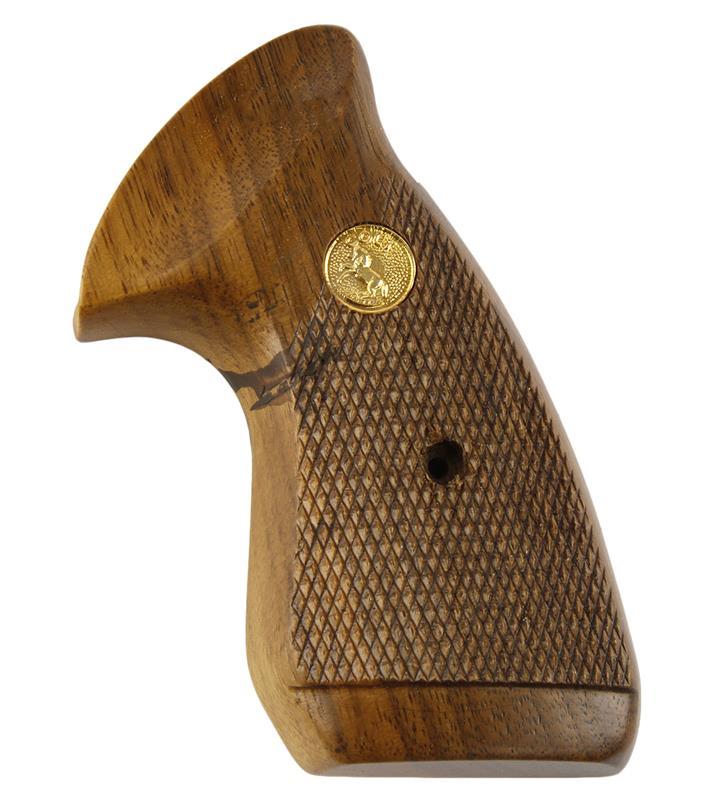 Grip, Left Side Only, Original w/Round Butt, Target, Dark Checkered Walnut