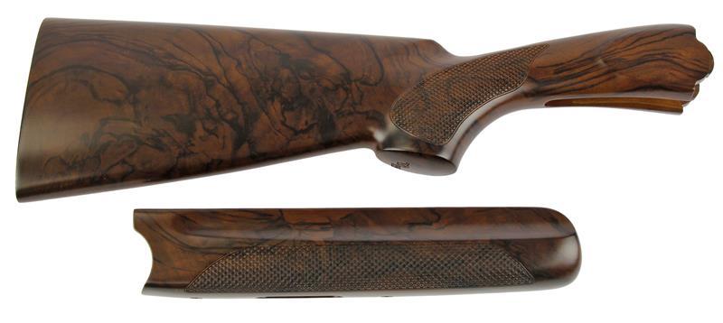 Stock & Forend Set, 12 Ga., RH, 38/60 Drop, ,Xtra-Wood, Ckrd Walnut, Semi-Gloss