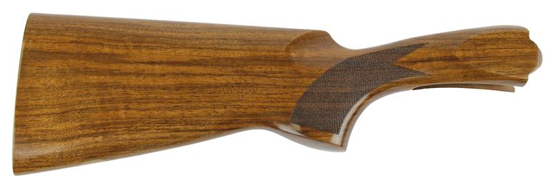 Stock, 12 Ga., LH, 35/55 Drop, Cut Ckrd Walnut, Gloss Finish no Pad