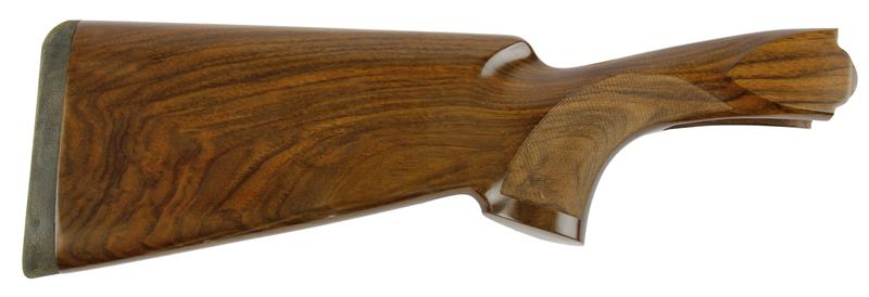 Stock, 12 Ga., RH, 38/60 Drop, Skeet, Cut Ckrd Walnut, Gloss Finish w/ Pad