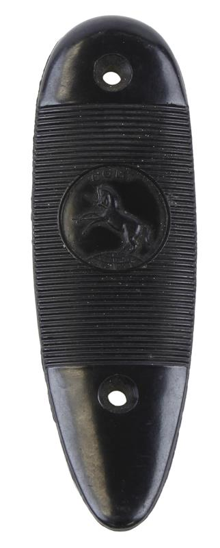 Buttplate, Serrated, Black Plastic,Colt Rampant Horse Logo,Used Factory Original