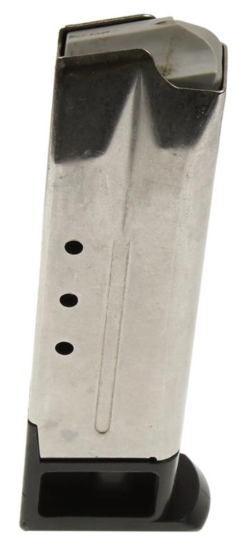 Magazine, 9mm, 10 Round, Stainless, Used (Rectangle Cut for Mag Catch)