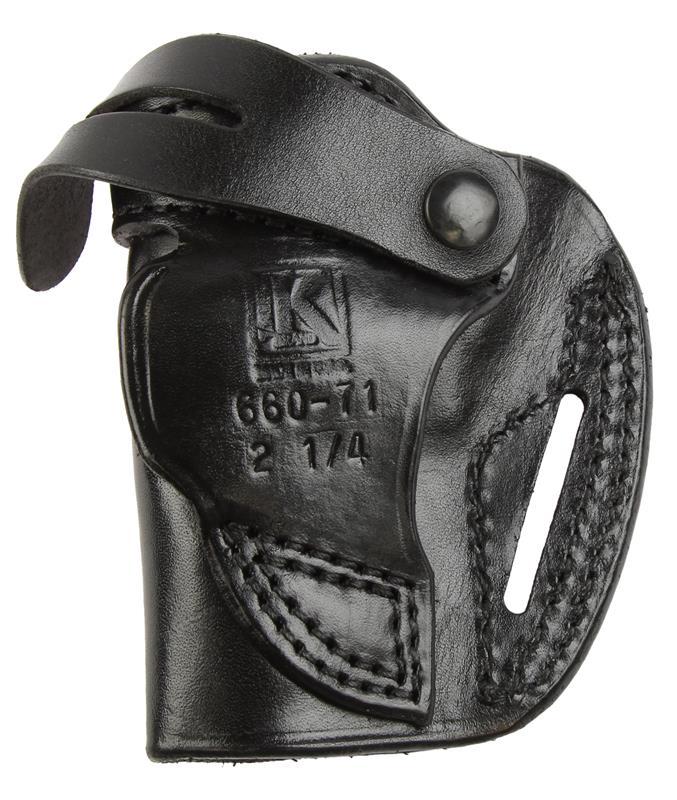 Belt Holster, RH, Plain Black Leather, New Triple K