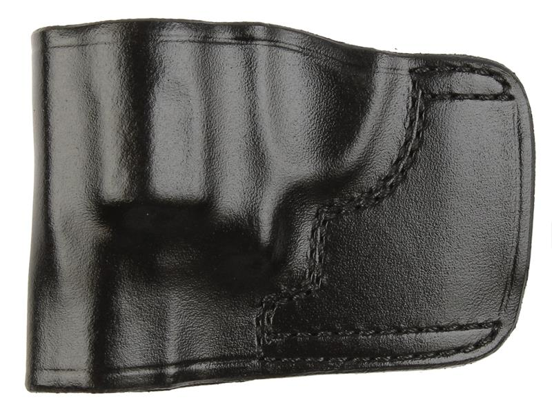 Holster, LH, Slide, J.I.T. # 3, Black Leather, New (Don Hume Mfg)