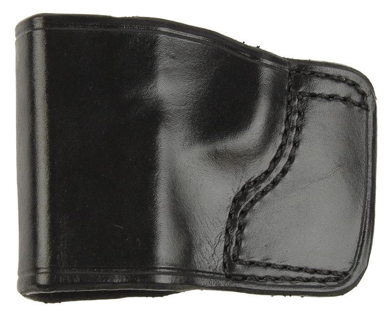 Holster, LH, Slide, J.I.T. # 40F, Black Leather, New (Don Hume Mfg)