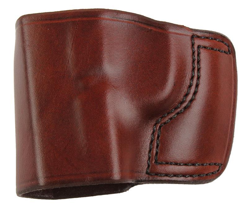 Holster, LH, Slide, J.I.T. # 40F, Reddish Brown Leather, New (Don Hume Mfg)