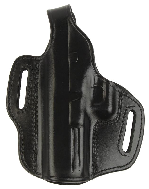 Holster, LH, Outside The Pant, Black Leather, New (Exposed Slots 1-3/4