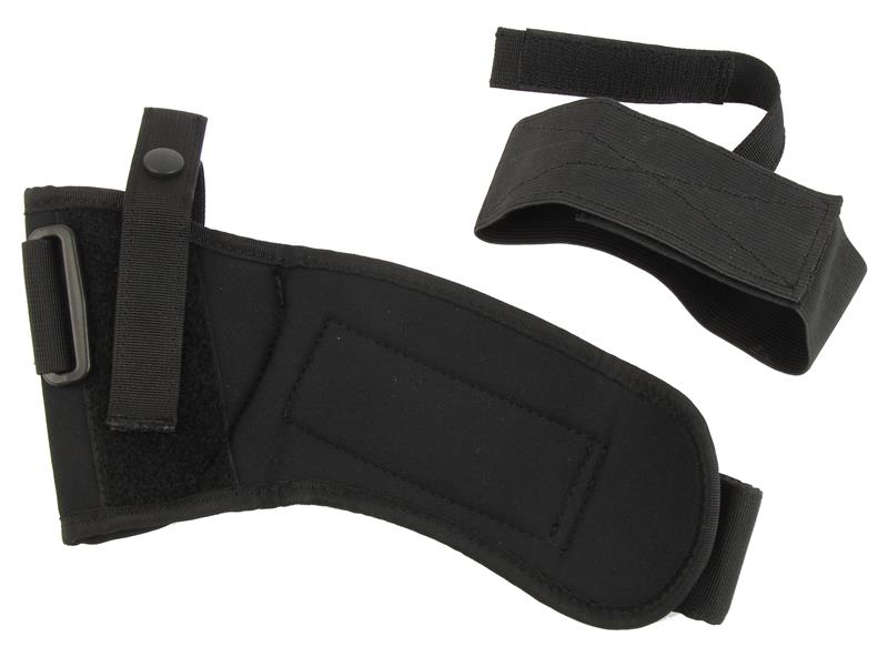 Ankle Holster, RH, Size 12, Black Nylon, New Uncle Mike's